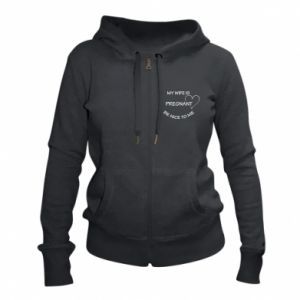 Women's zip up hoodies My wife is pregnant