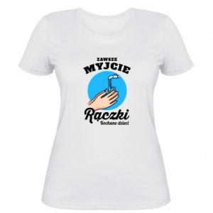 Women's t-shirt Wash their hands