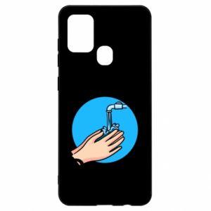 Samsung A21s Case Wash their hands