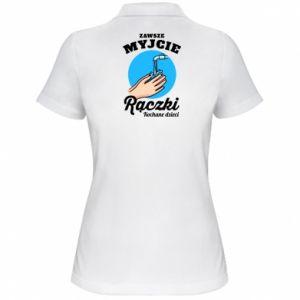Damska koszulka polo Myjcie rączki