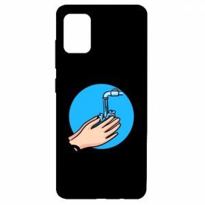 Etui na Samsung A51 Myjcie rączki