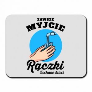 Mouse pad Wash their hands