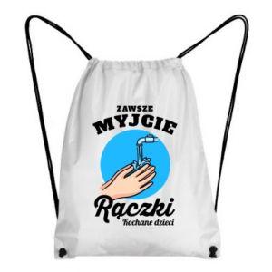 Backpack-bag Wash their hands