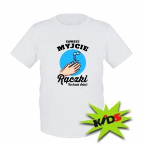 Dziecięcy T-shirt Myjcie rączki