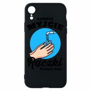iPhone XR Case Wash their hands
