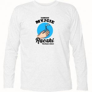 Koszulka z długim rękawem Myjcie rączki