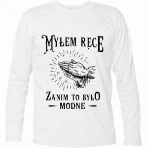 Koszulka z długim rękawem Mylem rece zanim to bylo modne