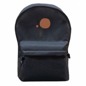 Backpack with front pocket Mysterious sunset