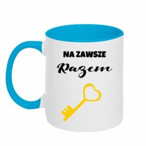 Two-toned mug Together forever, for Him