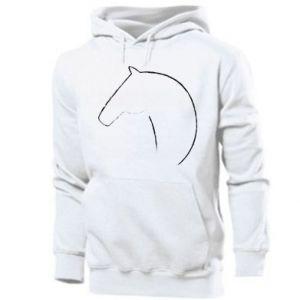 Męska bluza z kapturem Nadruk - koń