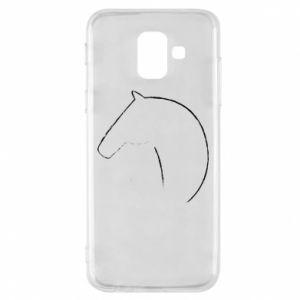 Etui na Samsung A6 2018 Nadruk - koń