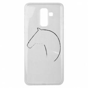 Etui na Samsung J8 2018 Nadruk - koń
