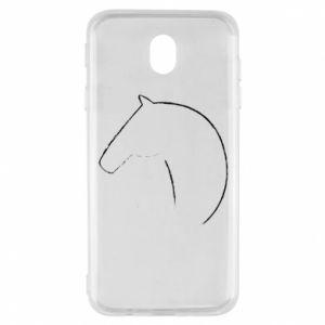 Etui na Samsung J7 2017 Nadruk - koń
