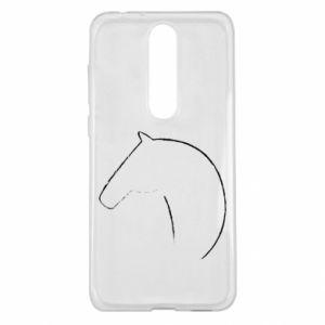 Etui na Nokia 5.1 Plus Nadruk - koń