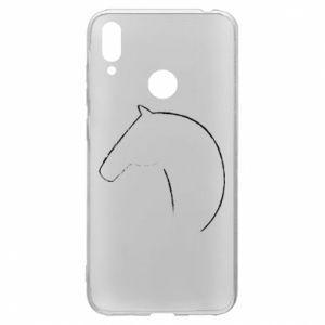 Etui na Huawei Y7 2019 Nadruk - koń