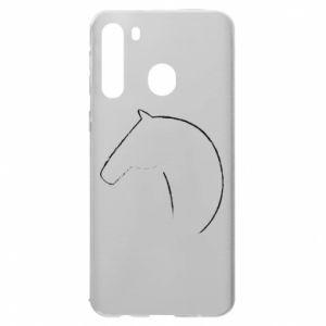 Etui na Samsung A21 Nadruk - koń