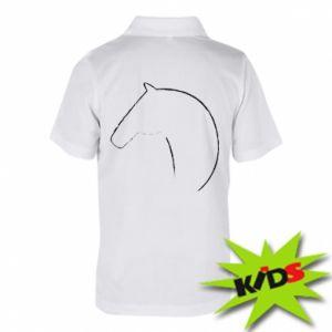 Dziecięca koszulka polo Nadruk - koń