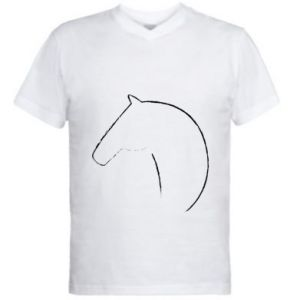 Men's V-neck t-shirt Print - horse