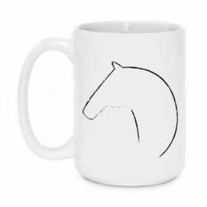 Kubek 450ml Nadruk - koń