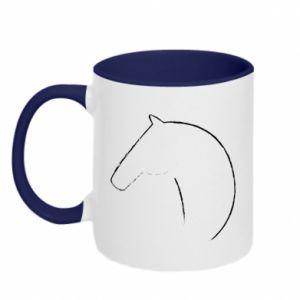 Kubek dwukolorowy Nadruk - koń