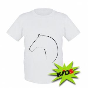 Dziecięcy T-shirt Nadruk - koń