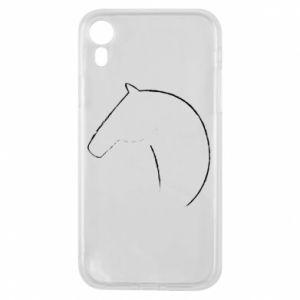 Etui na iPhone XR Nadruk - koń