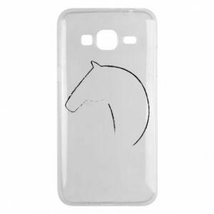 Etui na Samsung J3 2016 Nadruk - koń