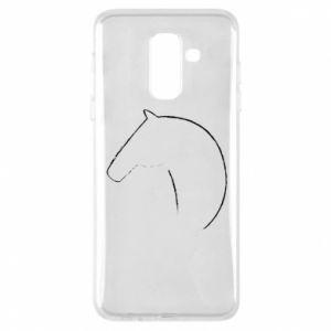 Etui na Samsung A6+ 2018 Nadruk - koń