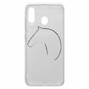 Etui na Samsung A20 Nadruk - koń