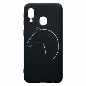 Etui na Samsung A40 Nadruk - koń