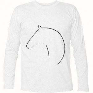 Koszulka z długim rękawem Nadruk - koń