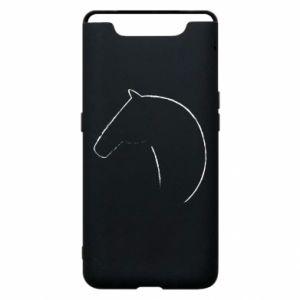 Etui na Samsung A80 Nadruk - koń