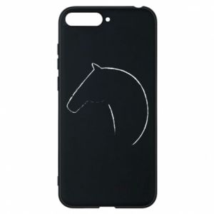 Etui na Huawei Y6 2018 Nadruk - koń