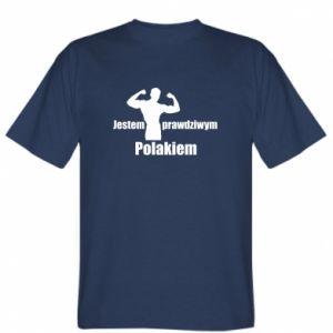 """Koszulka Nadruk z napisem """"Jestem prawdziwym Polakiem"""""""