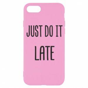 """Etui na iPhone SE 2020 Nadruk z napisem """"Just do it later"""""""