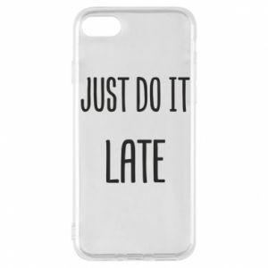"""Etui na iPhone 8 Nadruk z napisem """"Just do it later"""""""