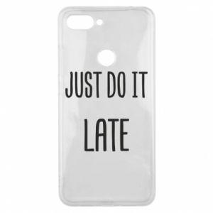 "Etui na Xiaomi Mi8 Lite Nadruk z napisem ""Just do it later"""
