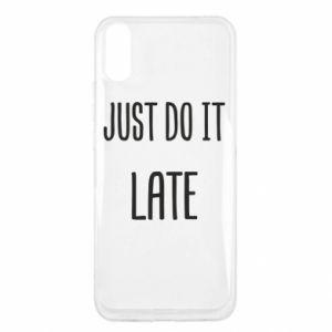 "Etui na Xiaomi Redmi 9a Nadruk z napisem ""Just do it later"""