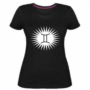 "Damska premium koszulka Nadruk z napisem ""Twins"" - PrintSalon"