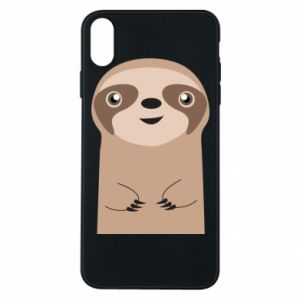 Phone case for iPhone Xs Max Naive sloth - PrintSalon