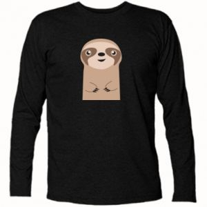Long Sleeve T-shirt Naive sloth - PrintSalon