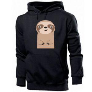 Men's hoodie Naive sloth - PrintSalon