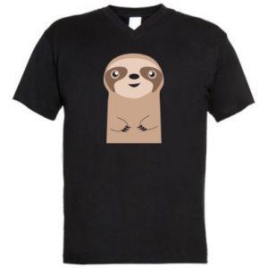 Męska koszulka V-neck Naive sloth