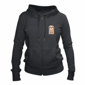 Women's zip up hoodies Naive sloth - PrintSalon