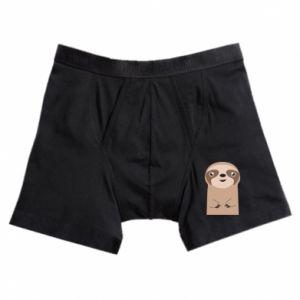 Boxer trunks Naive sloth - PrintSalon