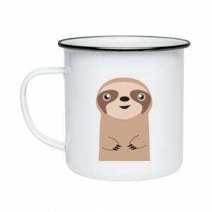 Enameled mug Naive sloth - PrintSalon