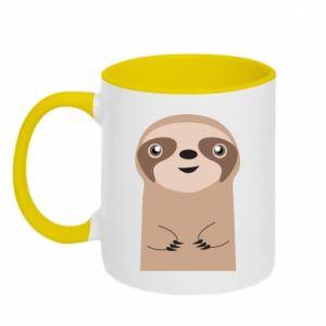 Two-toned mug Naive sloth - PrintSalon