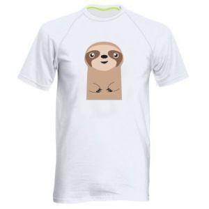 Men's sports t-shirt Naive sloth - PrintSalon