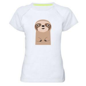 Women's sports t-shirt Naive sloth - PrintSalon