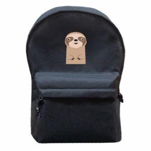 Backpack with front pocket Naive sloth - PrintSalon